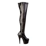 Nero Matto 18 cm ADORE-3000 Stivali alti e sopra al ginocchio