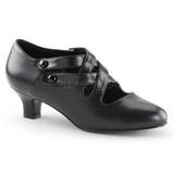 Nero Matto 5 cm retro vintage DAME-02 scarpe décolleté con tacchi bassi