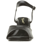 Nero Matto 8 cm BELLE-309 scarpe tacco alto numeri grandi per uomo
