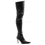 Nero Matto 9,5 cm LUST-3000 stivali overknee tacco alto