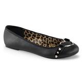 Nero Matto STAR-21 scarpe gotico ballerine tacco basse