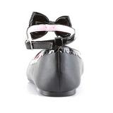 Nero Matto STAR-27 scarpe gotico ballerine tacco basso