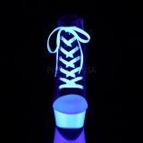 Nero Neon 15 cm DELIGHT-600SK-02 Scarpe da ginnastica con tacco in tela