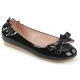 Nero OLIVE-03 ballerine scarpe basse donna con farfallino