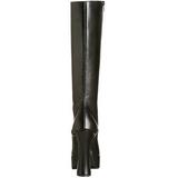 Nero Opaco 13 cm Pleaser ELECTRA-2020 Plateau Stivali Donna