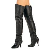 Nero Pelle 10,5 cm LEGEND-8868 stivali alti numeri grandi da uomo