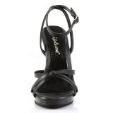 Nero Pelle 12 cm FLAIR-436 Sandali Donna con Tacco