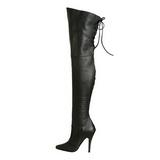 Nero Pelle 13 cm LEGEND-8899 stivali overknee tacco alto