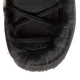Nero Pelliccia 13 cm CAMEL-311 Plateau Stivali Gotico