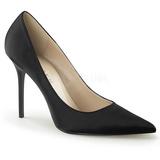 Nero Raso 10 cm CLASSIQUE-20 scarpe tacchi a spillo con punta