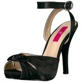 Nero Raso 12,5 cm EVE-01 grandi taglie sandali donna