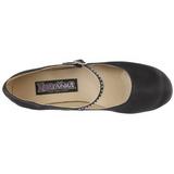 Nero Raso 8 cm FLAPPER-20 scarpe décolleté con tacchi bassi