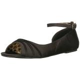 Nero Raso ANNA-03 grandi taglie scarpe ballerine
