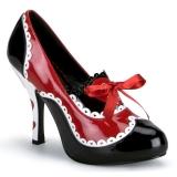 Nero Rosso 10,5 cm QUEEN-03 Scarpe da donna con tacco altissime