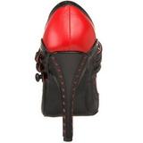 Nero Rosso 11,5 cm rockabilly TEMPT-10 Scarpe da donna con tacco altissime