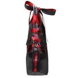 Nero Rosso 14,5 cm Burlesque TEEZE-13 Scarpe da donna con tacco altissime