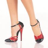 Nero Rosso 15 cm DOMINA-412 Scarpe da donna con tacco altissime
