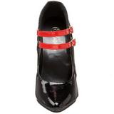 Nero Rosso 15 cm DOMINA-442 Scarpe da donna con tacco altissime