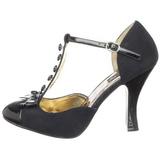 Nero Scamosciata 10 cm SMITTEN-10 Rockabilly scarpe décolleté con tacchi bassi