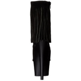 Nero Scamosciata 18 cm ADORE-1019 stivaletti con frange donna tacco alto
