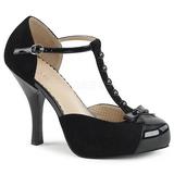 Nero Scamosciate 11,5 cm PINUP-02 grandi taglie scarpe décolleté
