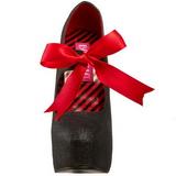 Nero Scintillare 14,5 cm Burlesque TEEZE-04G Scarpe da donna con tacco altissime
