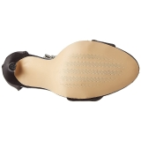 Nero Strass 13 cm SEXY-18 Sandali da Sera con Tacco Alto