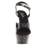 Nero Strass 15 cm STARDUST-609 Scarpe da donna con tacco altissime