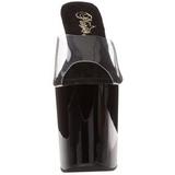 Nero Trasparente 20 cm FLAMINGO-801 Pantofole Tacco Alto Donna