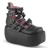 Nero Vegano 9 cm DEMONIA VIOLET-45 scarpe décolleté mary jane plateau