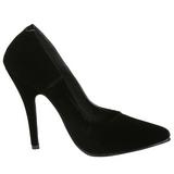 Nero Velluto 13 cm SEDUCE-420 scarpe décolleté a punta