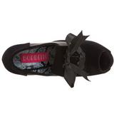 Nero Velluto 14,5 cm Burlesque TEEZE-16 Scarpe da donna con tacco altissime