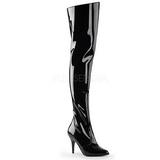 Nero Vernice 10,5 cm VANITY-3010 stivali alti numeri grandi da uomo