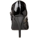 Nero Vernice 10,5 cm VANITY-440 scarpe décolleté con tacchi bassi