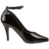 Nero Vernice 10 cm VANITY-431 scarpe décolleté con tacchi bassi