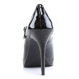 Nero Vernice 11 cm BLISS-31 Scarpe mary jane con tacco a stiletto