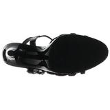 Nero Vernice 12 cm FLAIR-420 Sandali Donna con Tacco