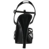Nero Vernice 12 cm FLAIR-420 scarpe tacco alto numeri grandi per uomo