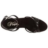 Nero Vernice 12 cm FLAIR-436 scarpe tacco alto numeri grandi per uomo