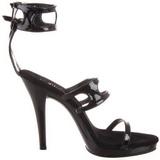 Nero Vernice 12 cm FLAIR-458 scarpe tacco alto numeri grandi per uomo