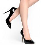 Nero Vernice 13 cm AMUSE-20 scarpe tacchi a spillo con punta
