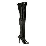 Nero Vernice 13 cm SEDUCE-3000 stivali overknee tacco alto