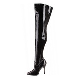 Nero Vernice 13 cm SEDUCE-3010 stivali alti numeri grandi da uomo
