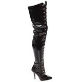 Nero Vernice 13 cm SEDUCE-4026 Stivali alti e sopra al ginocchio