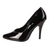 Nero Vernice 13 cm SEDUCE-420V scarpe décolleté a punta