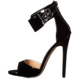 Nero Vernice 13 cm SEXY-19 Sandali da Sera con Tacco Alto