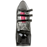 Nero Vernice 14,5 cm Burlesque TEEZE-05 Scarpe da donna con tacco altissime