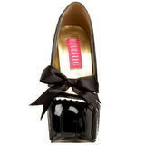 Nero Vernice 14,5 cm Burlesque TEEZE-14 Scarpe da donna con tacco altissime