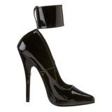 Nero Vernice 15,5 cm DOMINA-434 scarpe décolleté con tacchi bassi