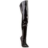 Nero Vernice 15,5 cm SCREAM-3010 Stivali alti e sopra al ginocchio